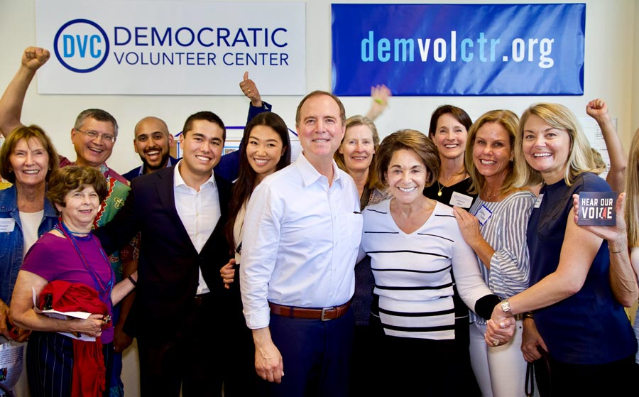 Adam Schiff, Anna Eshoo, and friend at the DVC
