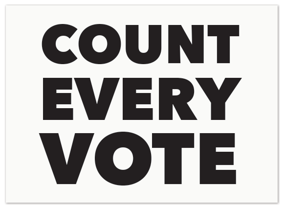 Count Every Vote sign thumbnail image